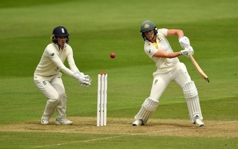 Australia dominate first day of Women's Ashes Test leaving England with a mountain to climb