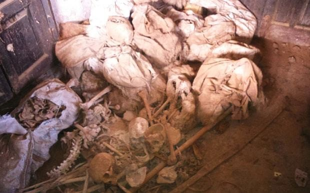 Skeletons discovered in Indian police building
