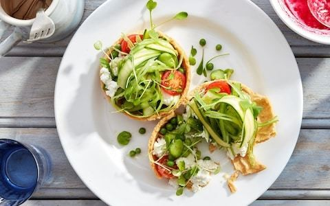 Summer vegetable and goat's curd tarts recipe