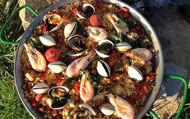 Camping recipes: a paella of sorts