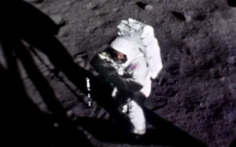 First clear picture of Neil Armstrong's face while walking on Moon uncovered