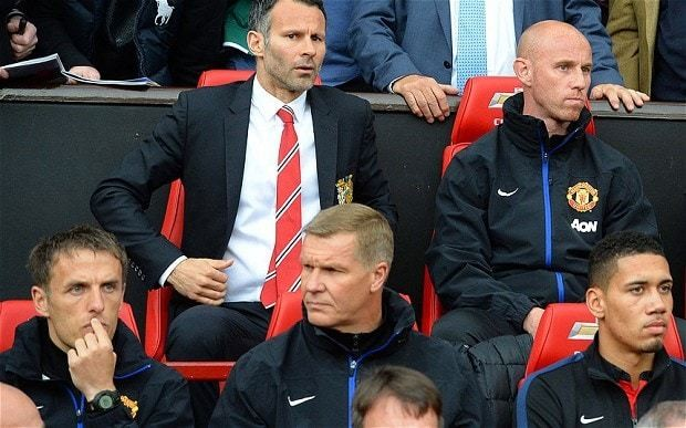 Manchester United tell Phil Neville and Chris Woods they have no future as Louis van Gaal appointment nears