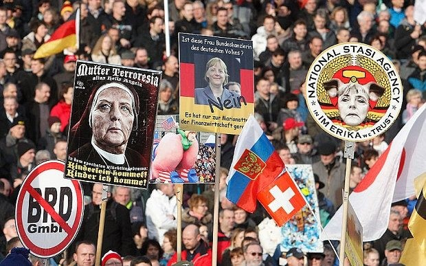 Thousands march in anti-Islam Pegida rallies across Europe