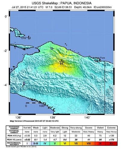 Strong earthquake hits eastern Indonesia
