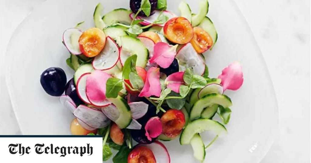 Cucumber, radish and cherry salad recipe