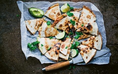 Portobello mushroom and avocado quesadillas recipe