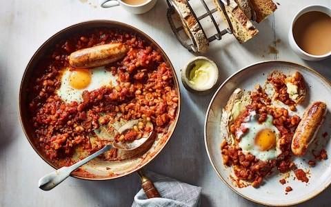 One-pan English breakfast recipe