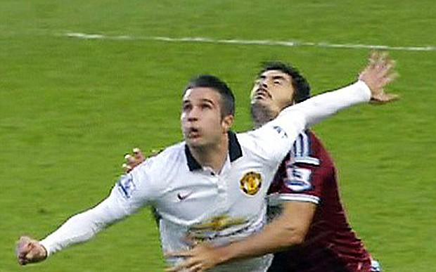 Man Utd news: Robin van Persie accused of deliberately hurting West Ham defender James Tomkins