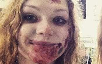 Zombie actress sues over 'scars for life' after freak accident at Halloween horror show