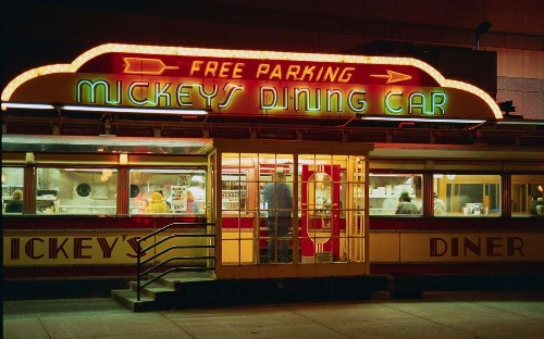 Why diners look like trains – a brief history of the American fast food icon