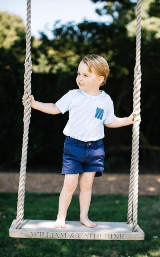 Duke and Duchess of Cambridge, Prince George and Princess Charlotte all have personalised swings bought by Prince Charles