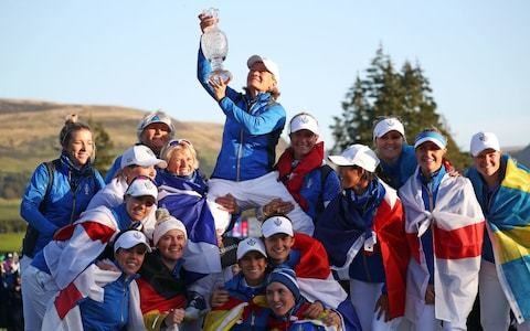 Catriona Matthew on track to be reappointed Europe captain after Solheim Cup triumph