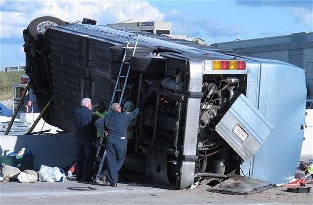 Bus carrying teens from church camp crashes in Indiana killing three