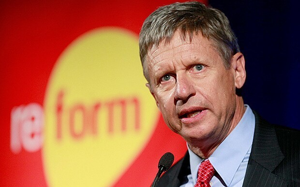 Libertarian presidential candidate Gary Johnson says time is right for 'the party of principle' in the White House