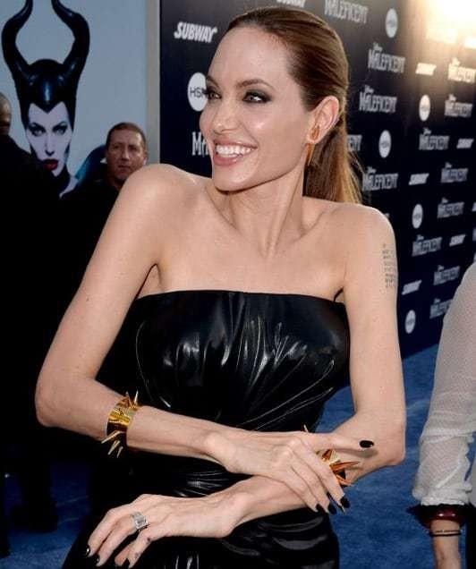 Angelina Jolie's Disney villain jewellery at Maleficent premiere