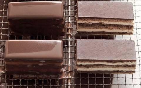 Coffee and chocolate opera cake recipe