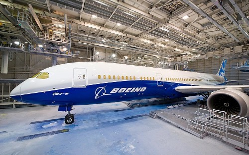 Boeing soars to a record as Dreamliner flies into profit