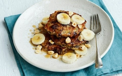 Quick and easy chocolate chip banana pancakes recipe