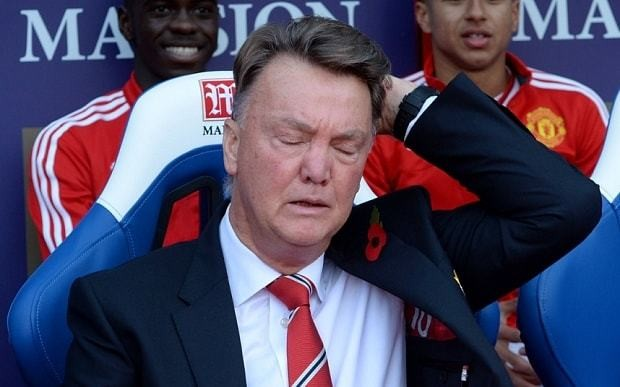 Crystal Palace 0 Manchester United 0, match report: Louis van Gaal under pressure after another goalless display