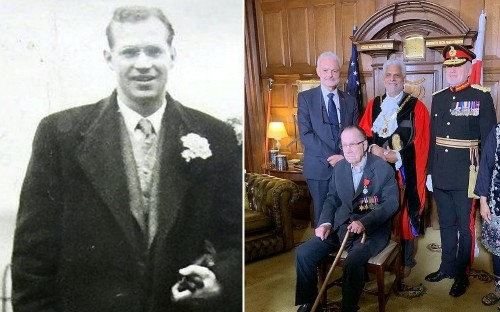 D-Day veteran who refused medals after Second World War receives his awards to help PTSD sufferers