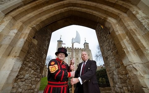 New Yeoman Gaoler at Tower of London as ex-airman hangs up axe after leading Beefeaters for over a decade