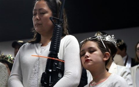 This church in Pennsylvania holds a ceremony to bless guns