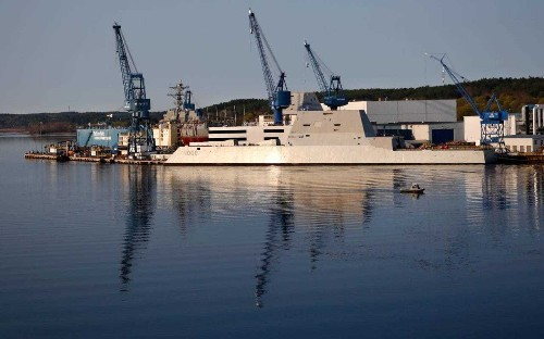 US Navy prepares to welcome its new futuristic destroyer, the USS Zumwalt