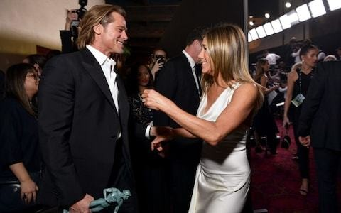 Brad Pitt and Jennifer Aniston finally reunite for the cameras at the SAG Awards
