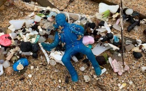 Plastic cereal toys from 1950s found washed up on Cornwall beaches