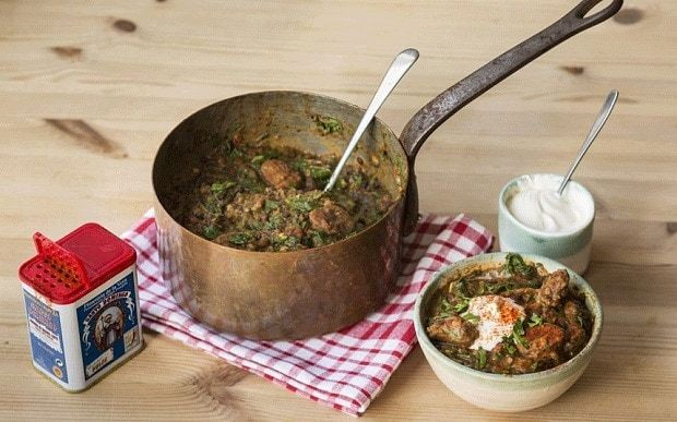 Chorizo and lentil stew with spinach recipe