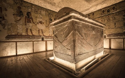 A rare look inside Egypt's Valley of the Kings tombs, where photography is banned