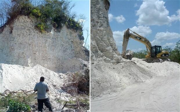 2,300-year-old Mayan pyramid bulldozed for roadworks