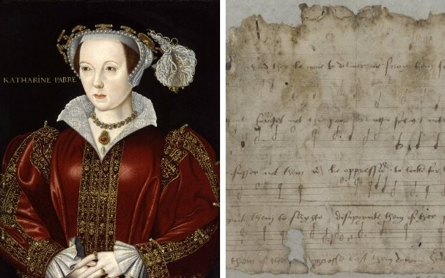 King Henry VIII's sixth wife collaborated with Thomas Tallis to write music to rally her husband for war