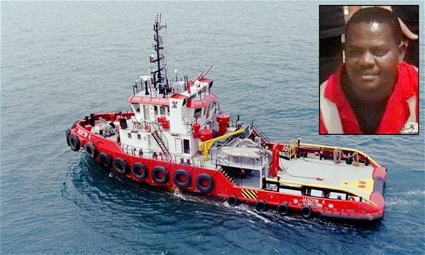 Nigerian cook tells how he survived for three days trapped under sunken ship