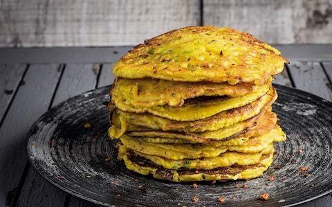 Gram flour turmeric pancakes recipe