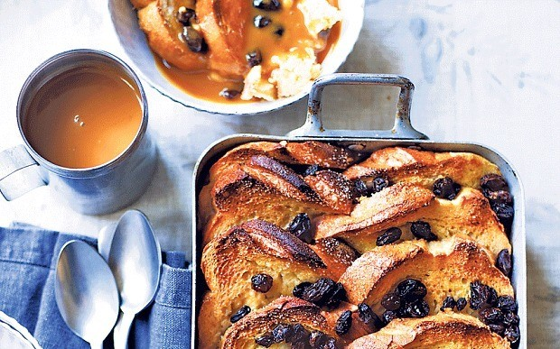 Salted caramel whiskey bread and butter pudding recipe