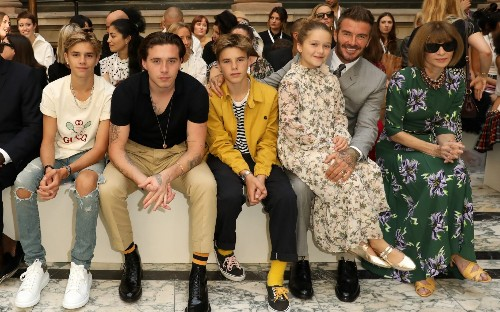 London Fashion Week: David Beckham and Anna Wintour sit front row at Victoria Beckham's show
