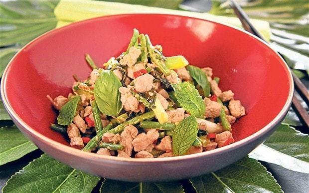 Thai pork and lime stir-fry recipe