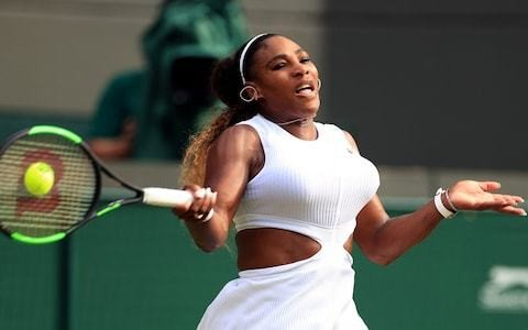 Serena Williams welcomes mixed doubles match practise with Andy Murray as she stutters to second-round singles win