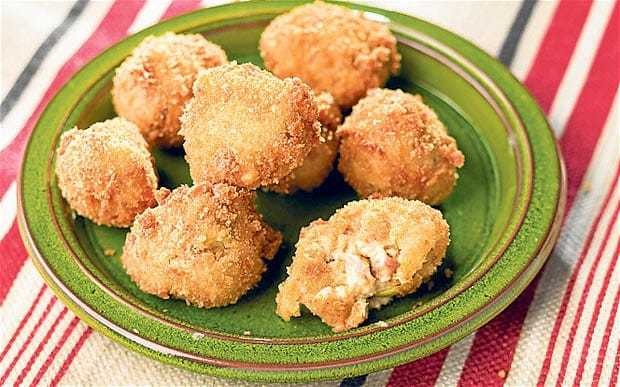 Bacon and leek croquettes