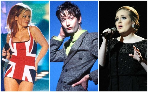 From Katy Perry's Trump skeleton to Adele's middle finger: the most controversial Brit Awards moments – in pictures