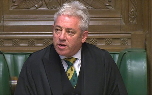 John Bercow to stay on as Speaker for next eight months as Labour MPs ride to his rescue and claim Brexit 'trumps bad behaviour'