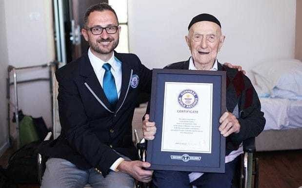 The world's oldest man will have his bar mitzvah 100 years late