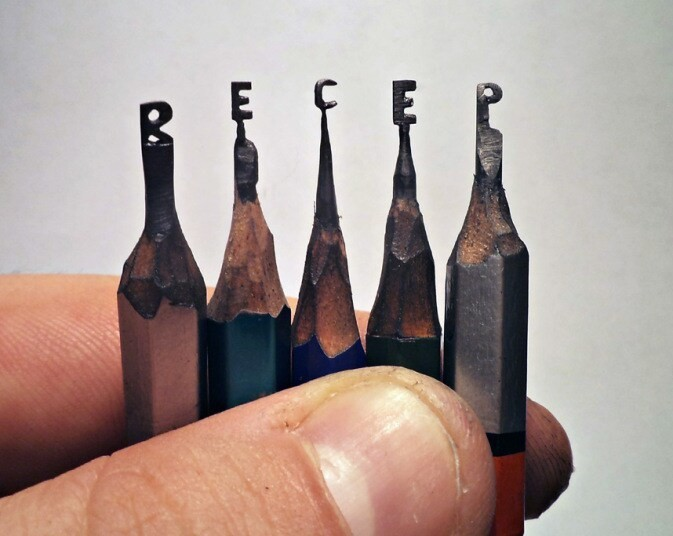 Graphite artist Recep Alcamli carves tiny shapes into pencil lead - Telegraph