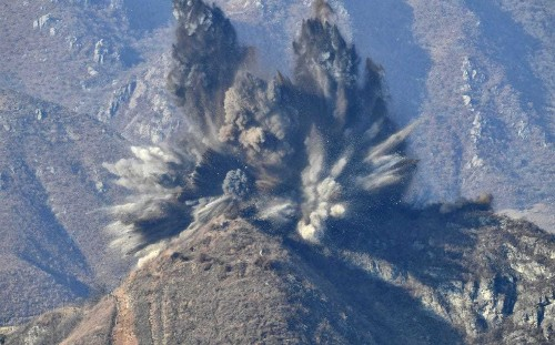 North Korean soldier defects to South across border after guard posts blown up