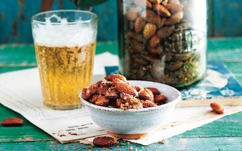 Paprika and chilli spiced almonds recipe