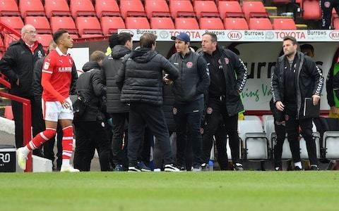 Fleetwood manager Joey Barton charged with actual bodily harm after incident during match at Barnsley