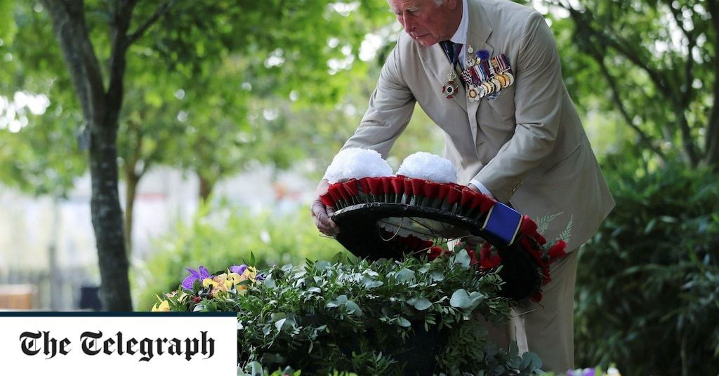 Prince Charles leads Britain's two-minute silence to mark 75th anniversary of VJ Day