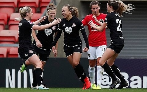 Women's Super League round-up: Ebony Salmon stuns Manchester United as Bristol City climb off foot of the table
