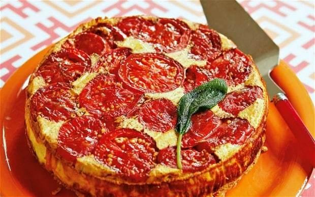 The New Vegetarian: tomato, ricotta and sage torta